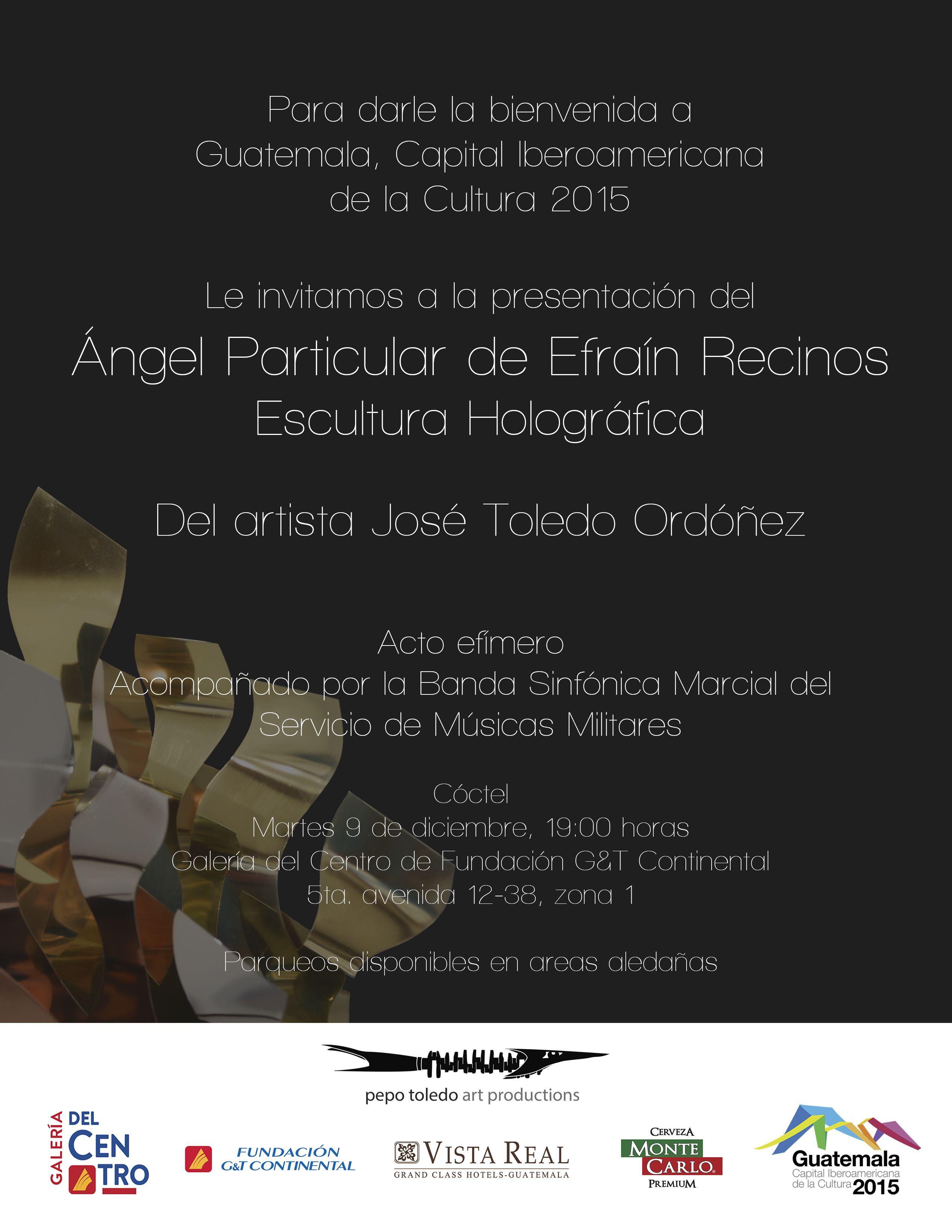 Invitación Para El Evento ángel Particular De Efraín Recinos