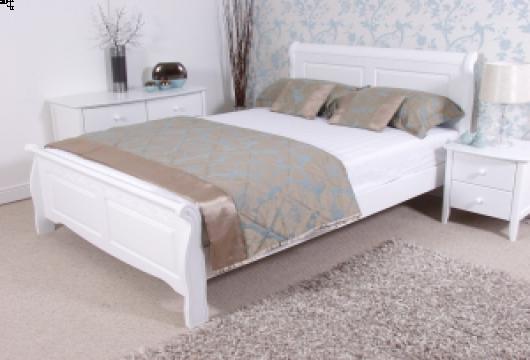 shaker bed frame white 2