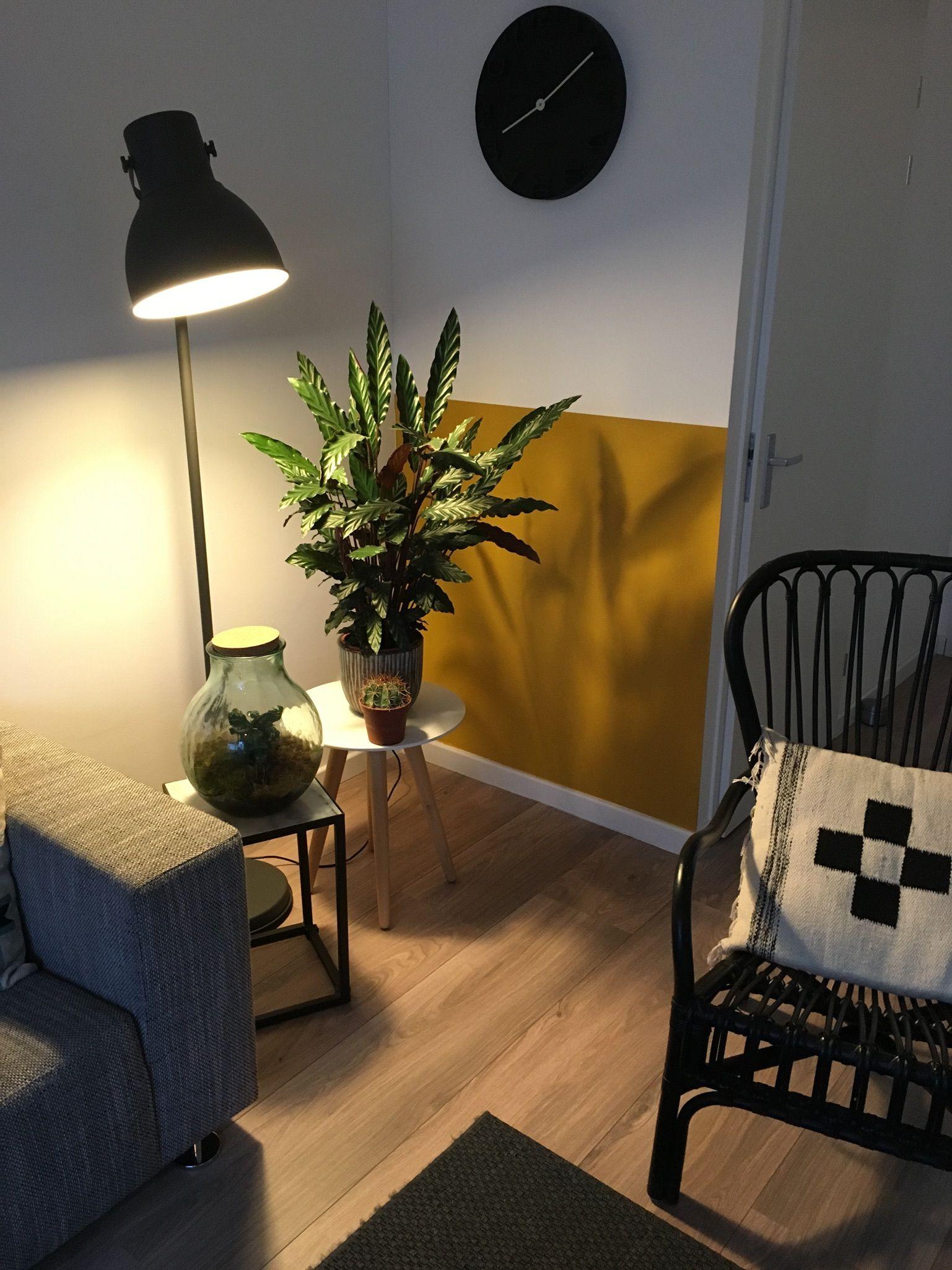 Okergeel muur woonkamer | zolder | Pinterest | Salons, Interiors and ...