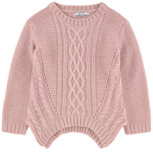 Acrylic knit Pleasant to the touch Pointed cut at the bottom Crew neck Long…