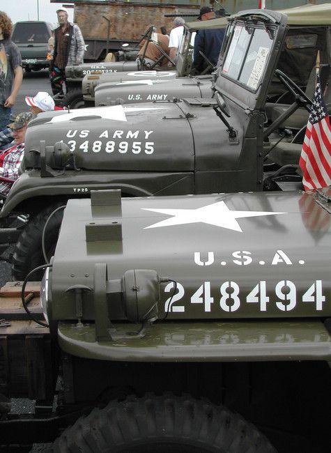 Military Jeep Hood Decal I D S Custom Jeep Wrangler Jeep Wrangler Jeep Cj