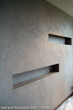Pitted Polished Plaster Resembles Lightly Honed Limestone Or Equally Concrete Has
