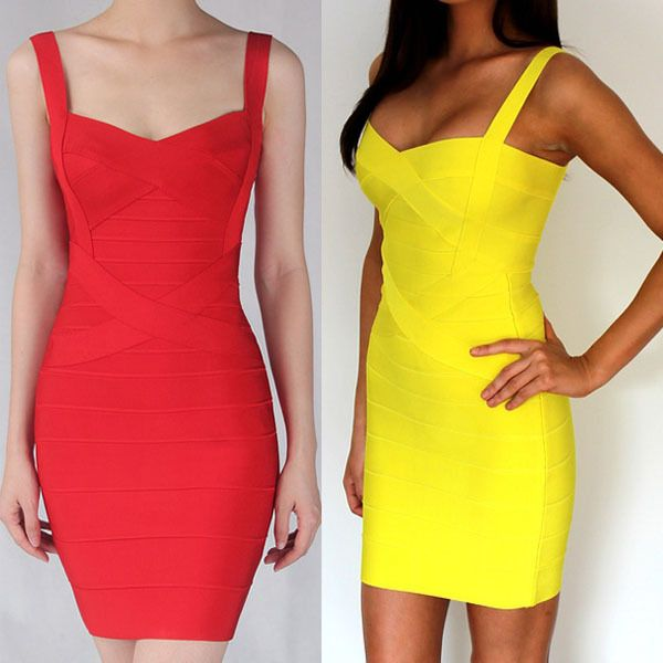 b8b8831333cf1 Women candy HL Bandage Dress Lady Mini Evening Dress prom club wear ...