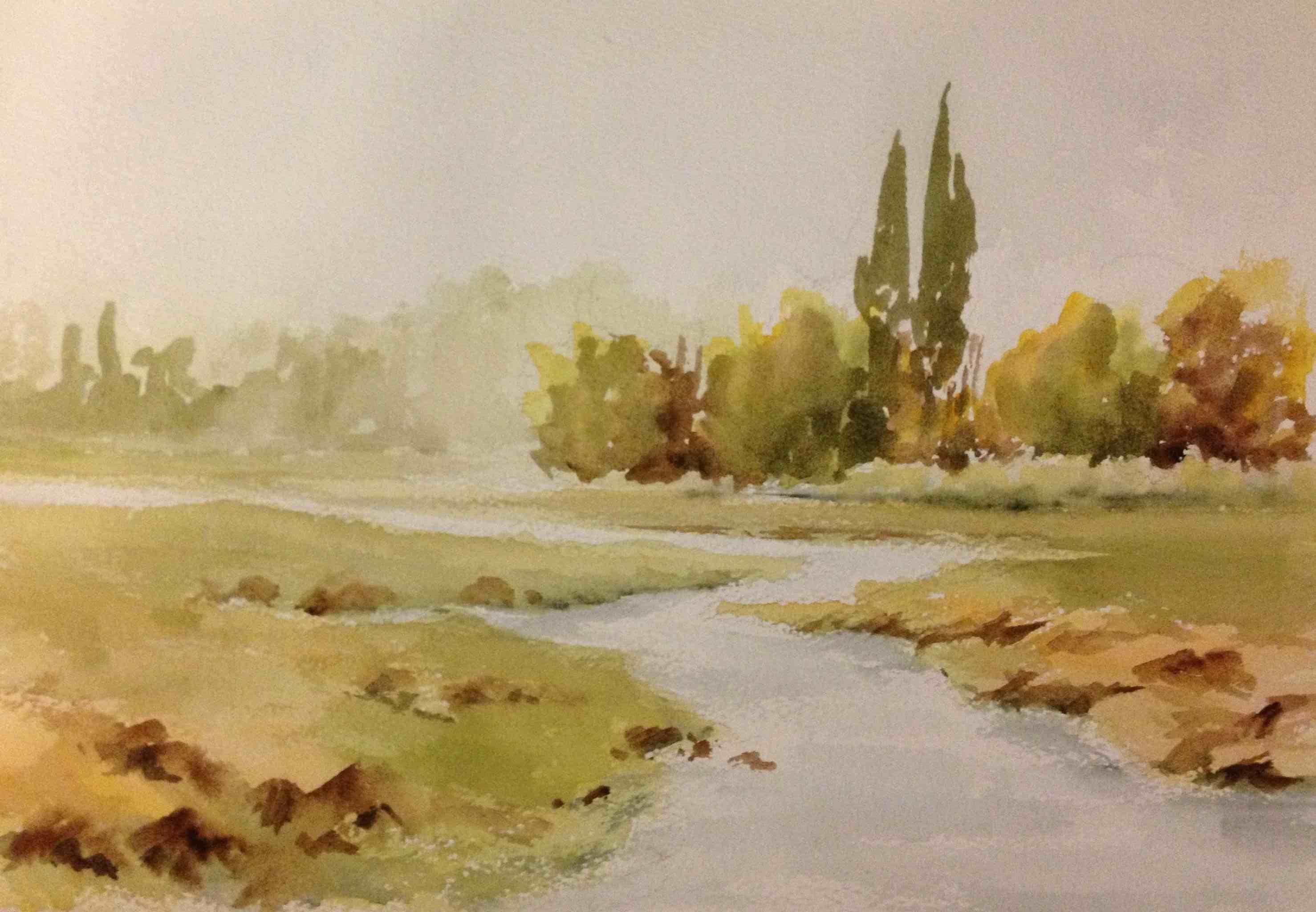 watercolor   Landscape (2013). Watercolor on paper ...