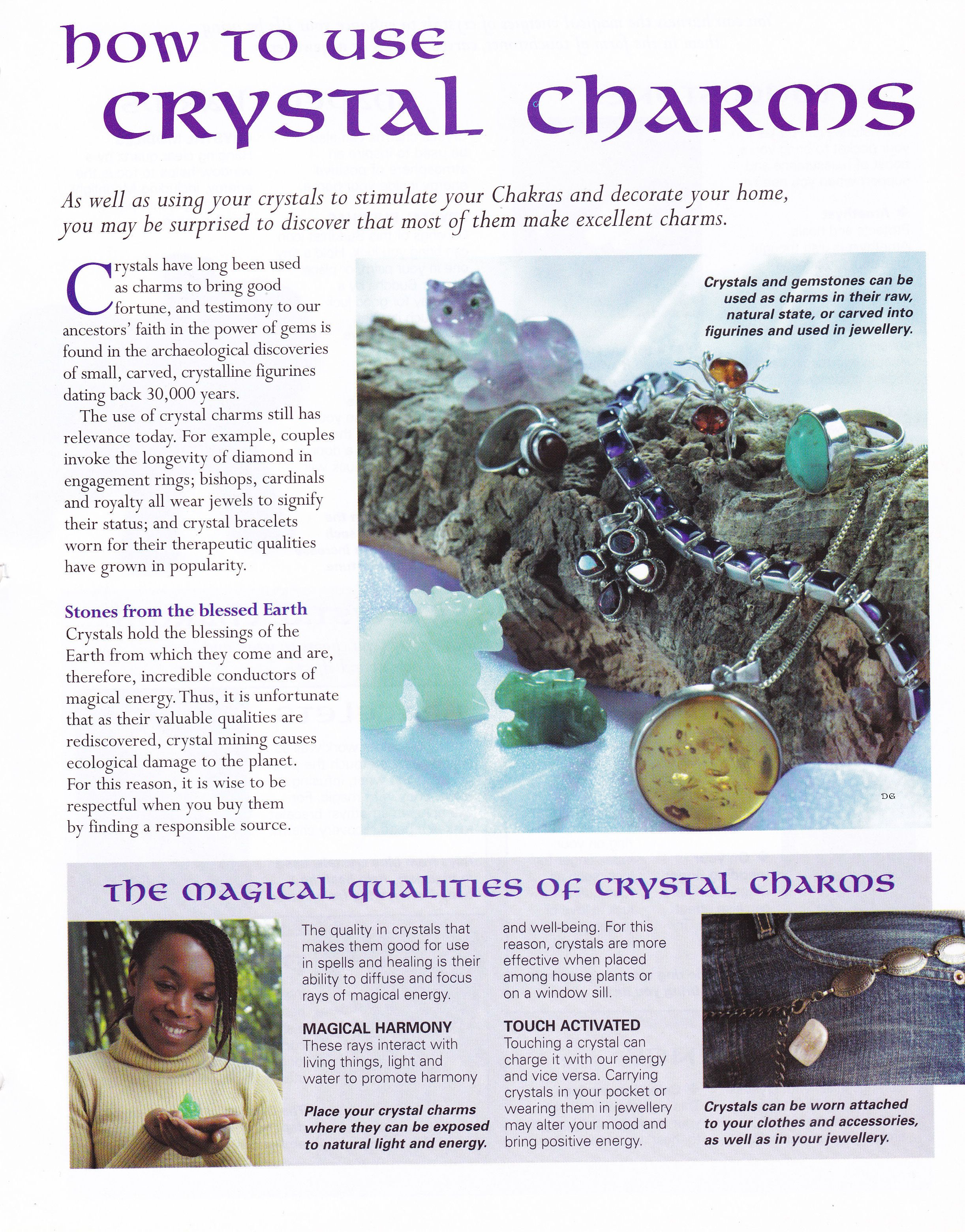 Libro Minerales Crystals And Stones How To Use Crystal Charms Cristales