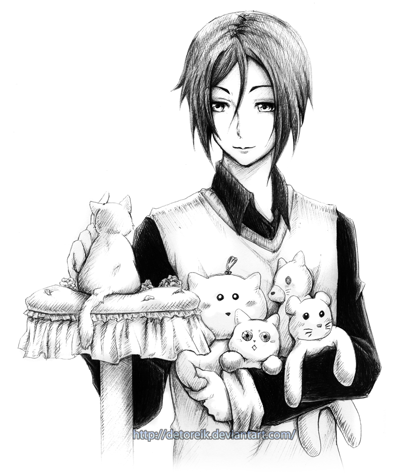 Sebastian... and kittens by Detoreik.deviantart.com on @DeviantArt