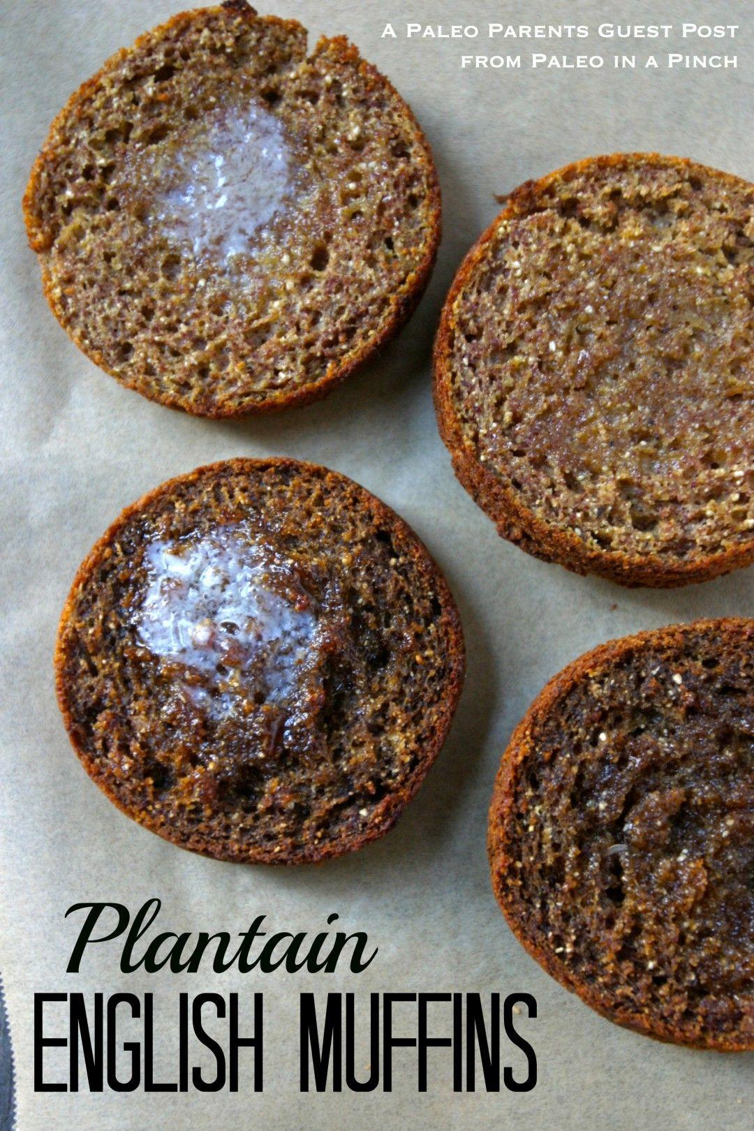 Paleo Plantain English Muffins-egg free-plantain, coconut flour, tapioca flour, gelatin.