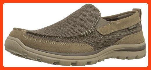 1110337e Skechers USA Men's Superior Milford Slip-On Loafer, Light Brown, 10 M US