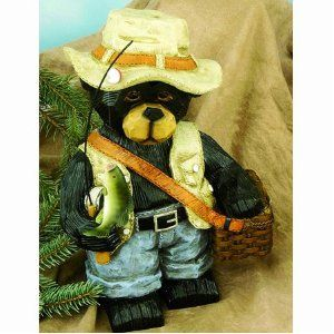 Fishing Bear Garden Statue, 16