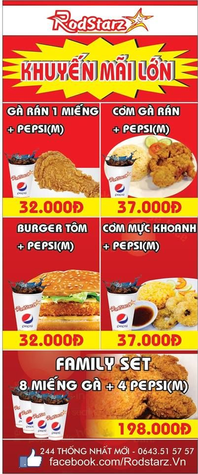 Daily Specials At Rodstarz Fast Food Restaurant In Vung Tau With Images Food Cereal Pops