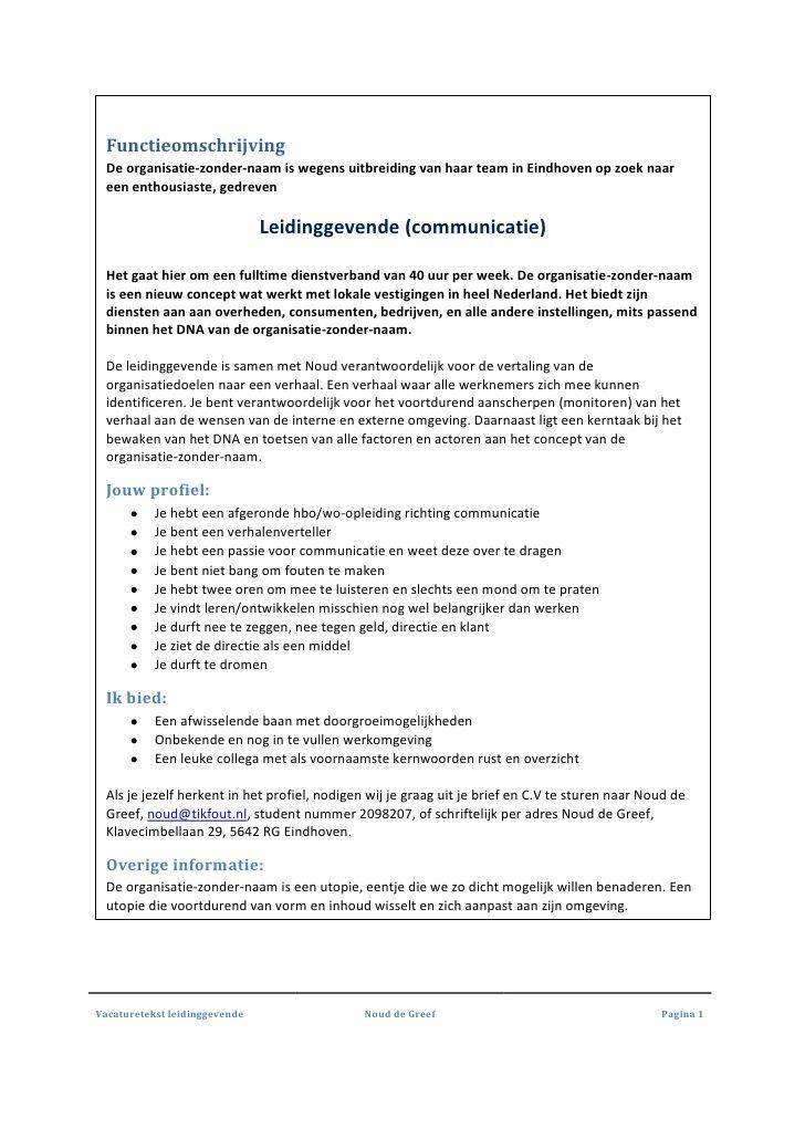 kernwoorden sollicitatie Vacature leidingevende   omgekeerde sollicitatie by  kernwoorden sollicitatie