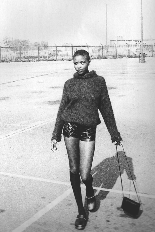 Urban Softwear: Lorraine Pascale by Corinne Day for Elle UK November 1991
