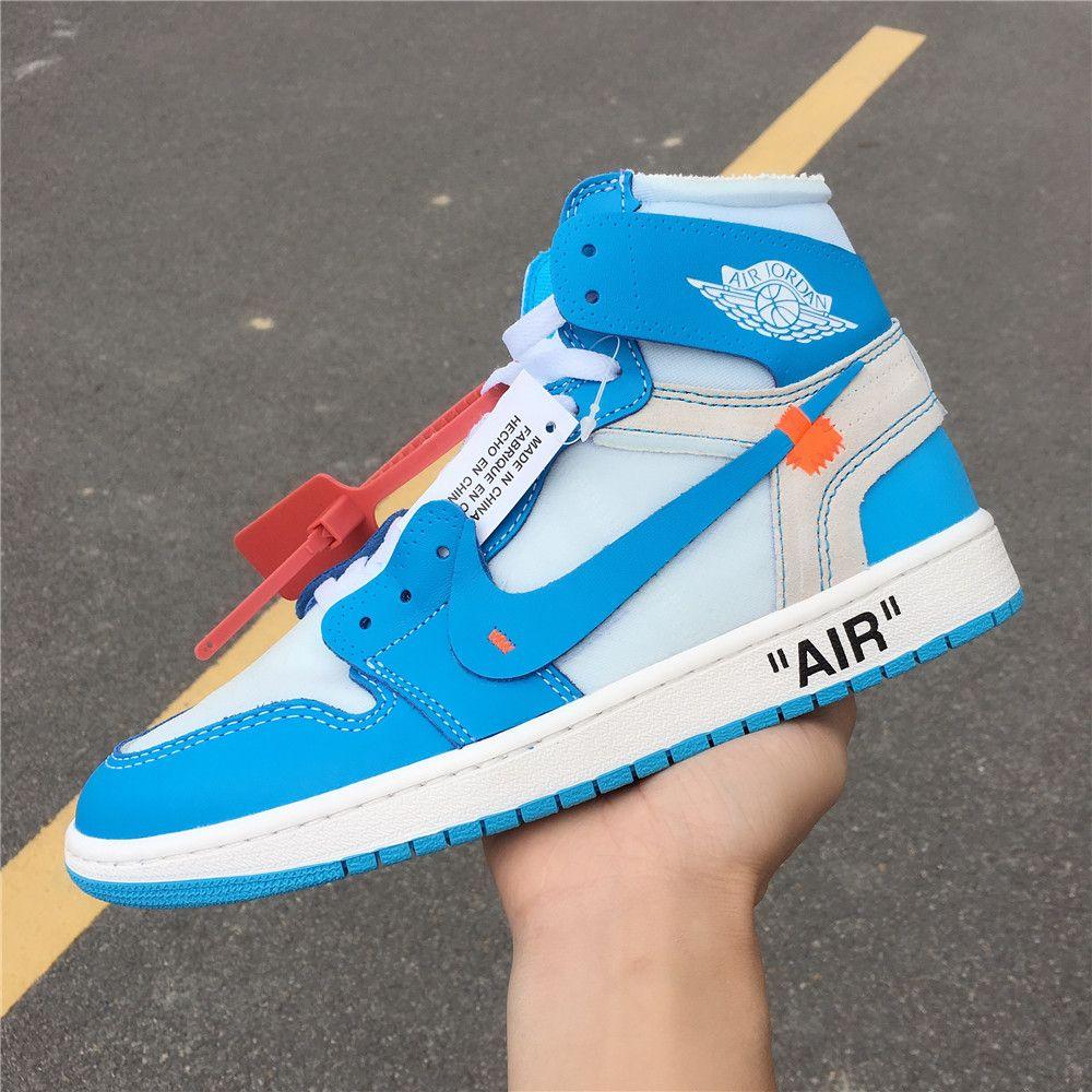Off White X Air Jordan 1 Unc Powder Blue Aq0818 148 Air Jordans