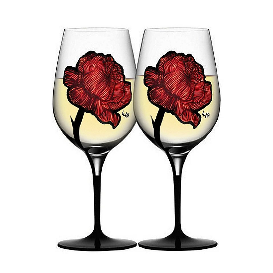 Kosta Boda Tattoo Wine Glasses Set Of 2 Bed Bath Beyond Rose Wine Glass Wine Glasses Wine
