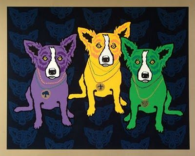 Mardi Gras Dogs by George Rodrigue