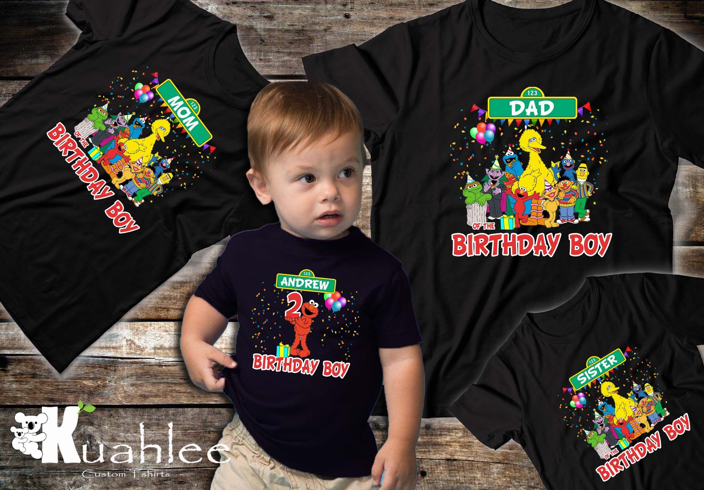 Sesame Street Inspired Name Shirt Kids Birthday shirt Sesame Street Birthday Shirts