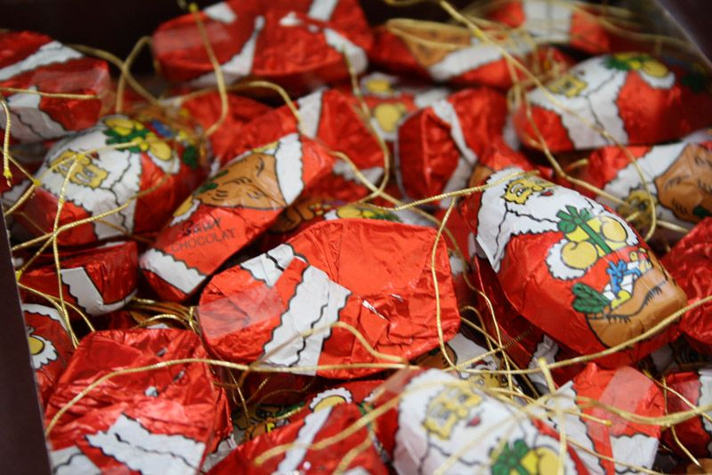 Christmas Tree Chocolates Part - 25: The Competition To Spot Chocolate Christmas Decorations On The Tree!