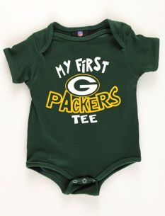 Green Bay Packers Newborn Baby Bodysuit Who Do I Know That Is