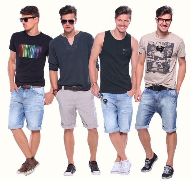 Resultado de imagem para Bermudas jeans masculino como usar