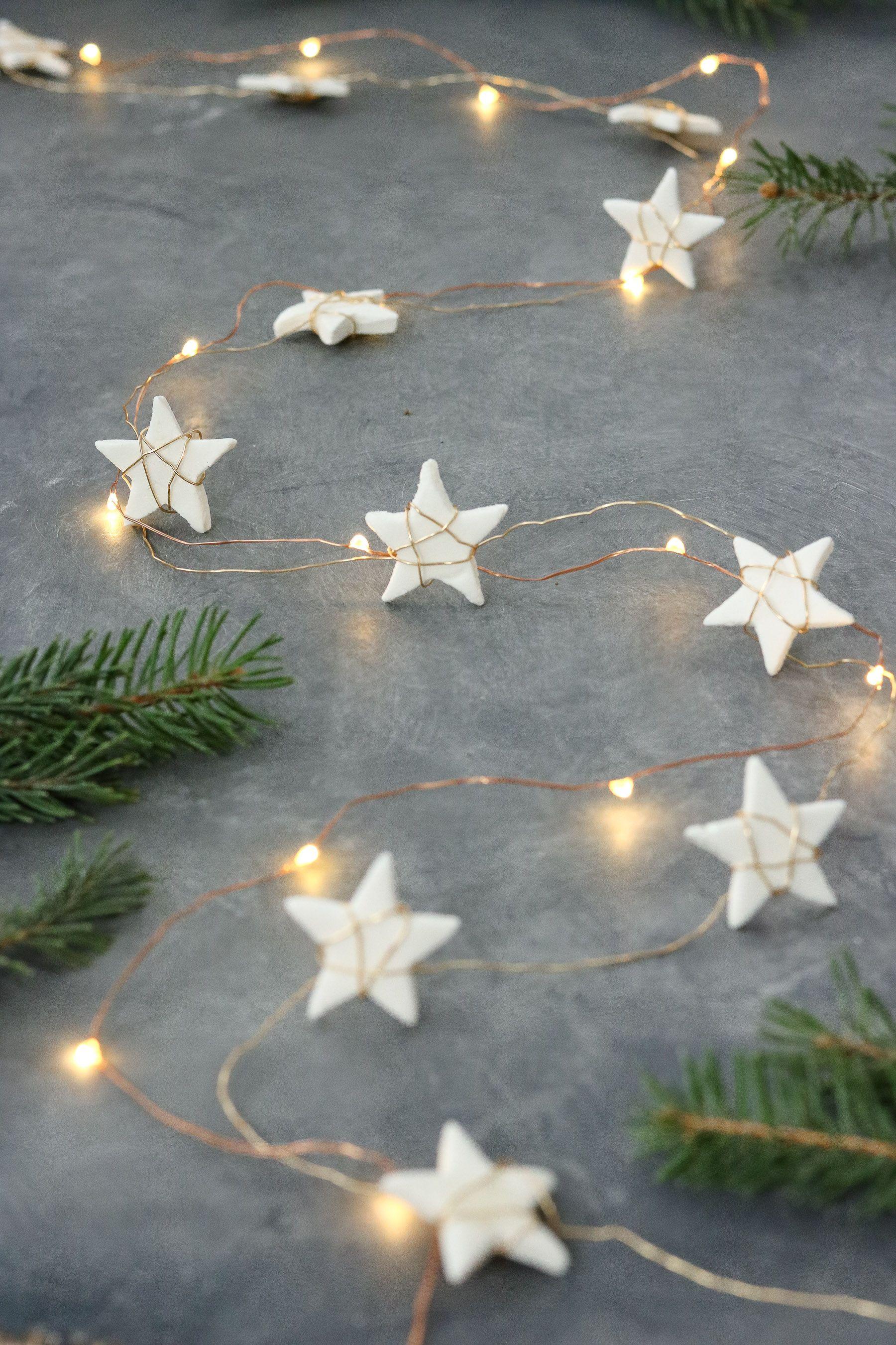 Star Garland + Easy Homemade Air Clay Recipe | Lily Ardor