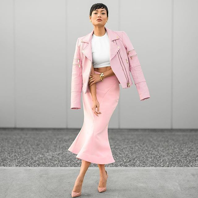 Pink is a beautiful color because it is one of the colors that the sun makes at twilight and in the dawns.  C. JoyBell C. (Photo: @micahgianelli) #fashion #fashiongram #style #love #currentlywearing #lookbook #wiwt #whatiwore #whatiworetoday #ootdshare #outfit #wiw #mylook #fashionista #todayimwearing #instastyle #instafashion