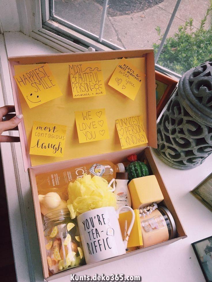 Unglaubliche DIY Geschenkbox- # gelb #vsco #boxofhappiness #gifts #boxes #diy #diygift #diygeburtstagsgeschenke