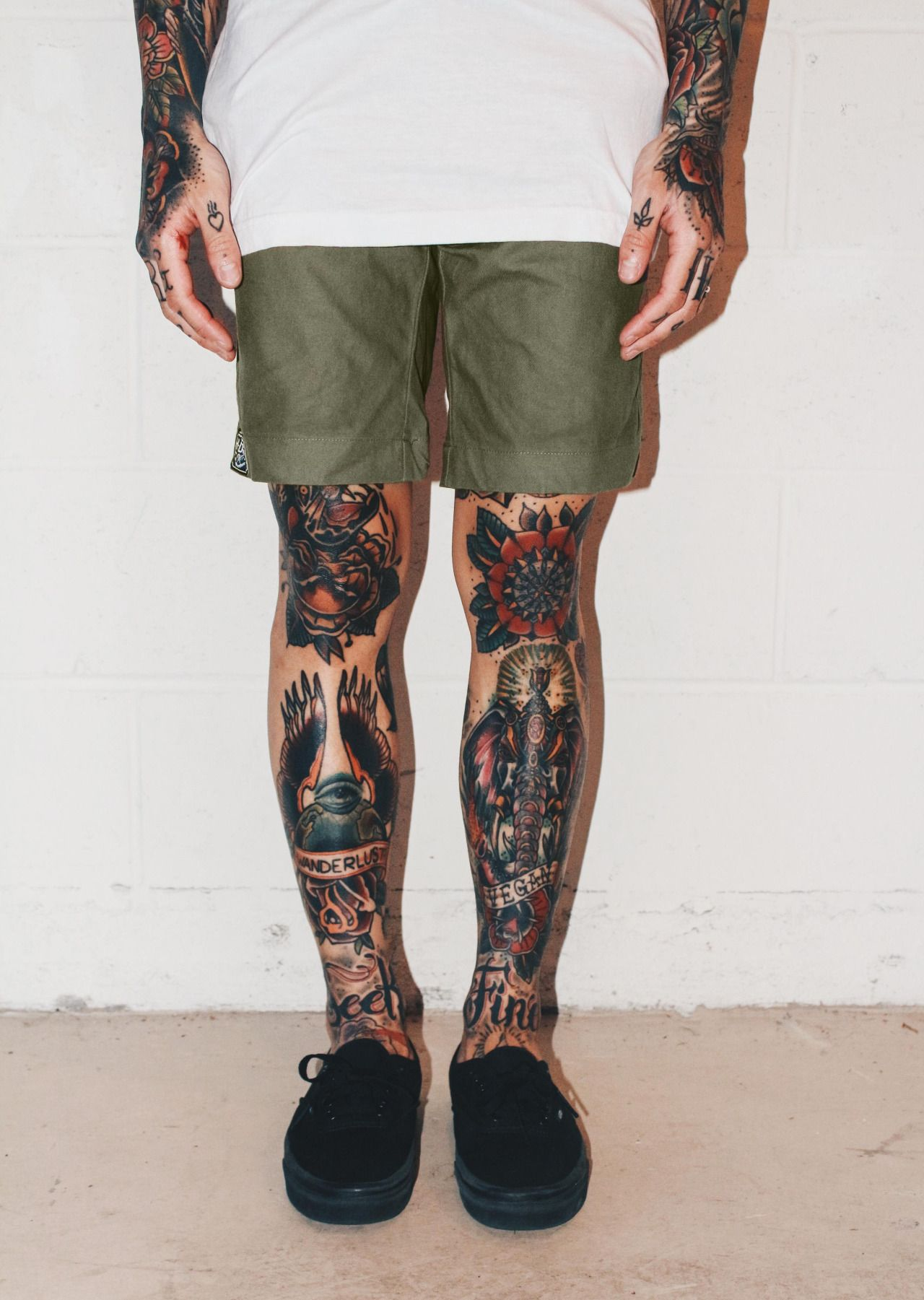 Lower leg guys traditional sleeve tattoos - Olive Signature Shorts Created To Fit To Perfection Www Hrdrvs Com Tattoo Legsleg Tattoosleg Sleeve Tattooankle
