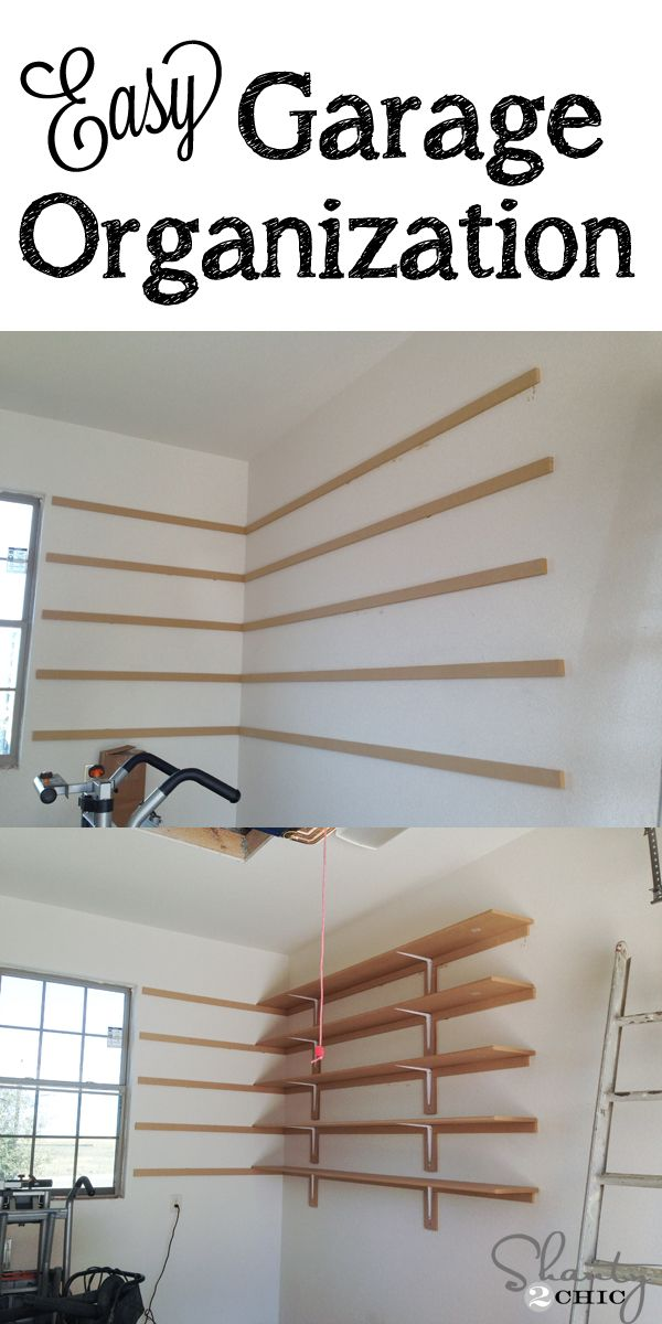 Super Easy Diy Garage Shelves Idee Rangement Organisation De