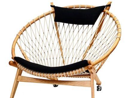 חנות מטרו.כורסא קש ועץ