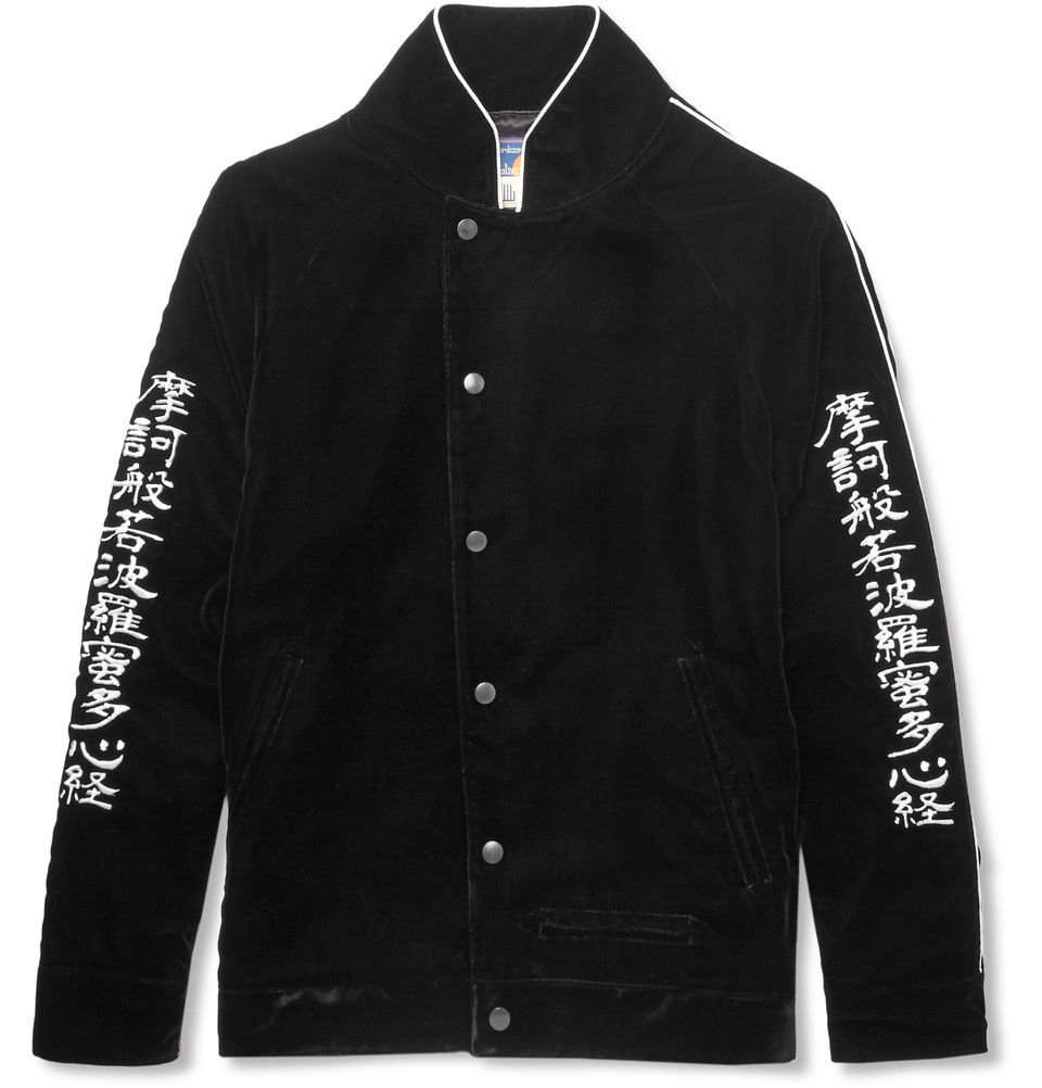 c1d651c3feada Blackmeans - Embroidered Velvet Bomber Jacket | MR PORTER | Mayo ...
