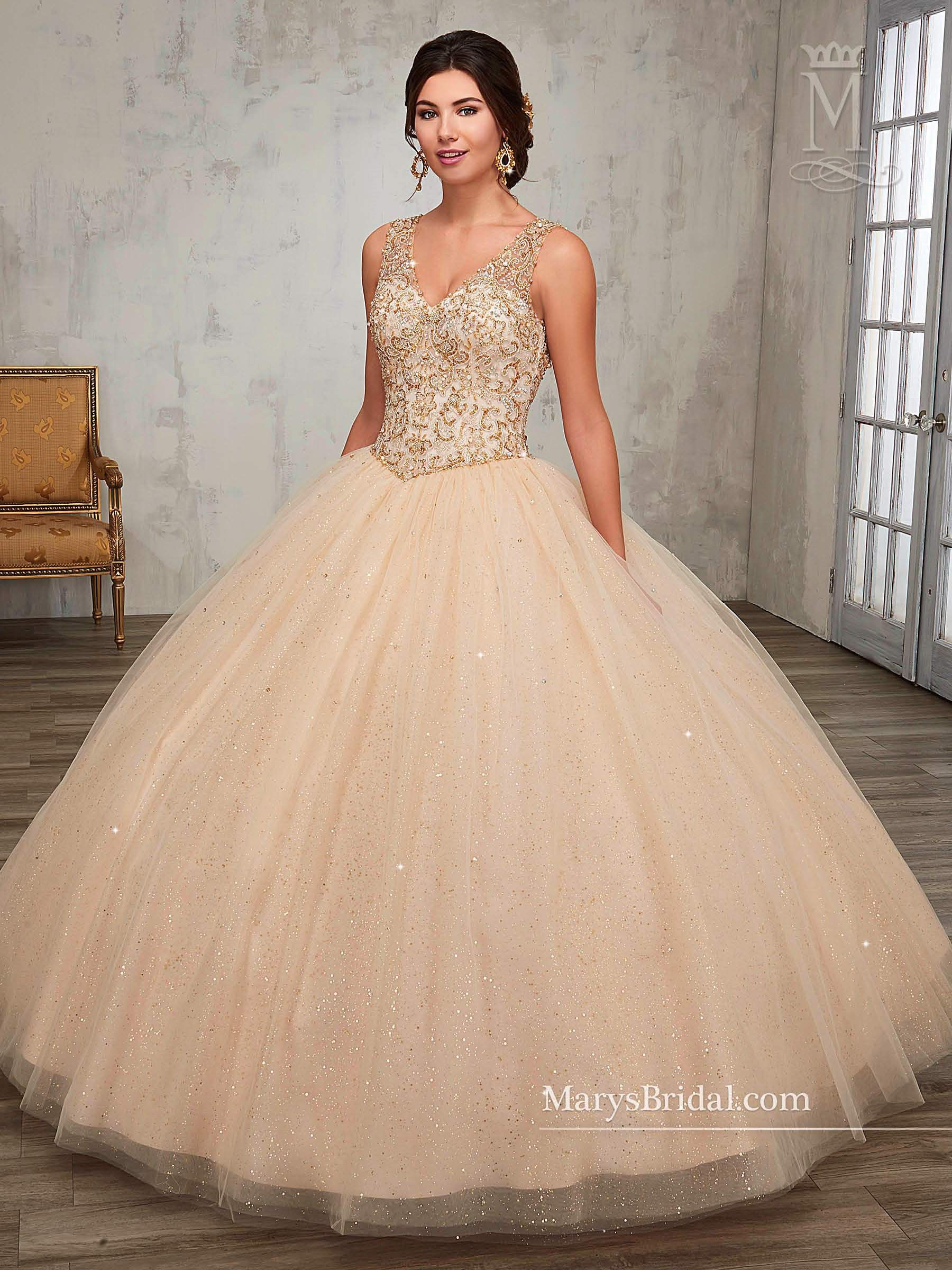 47dd263f549 Beaded A-line Quinceanera Dress by Mary s Bridal Princess 4Q511