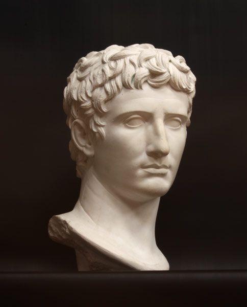 Augustus Caesar Augustus Caesar Bust Sculpture For Sale