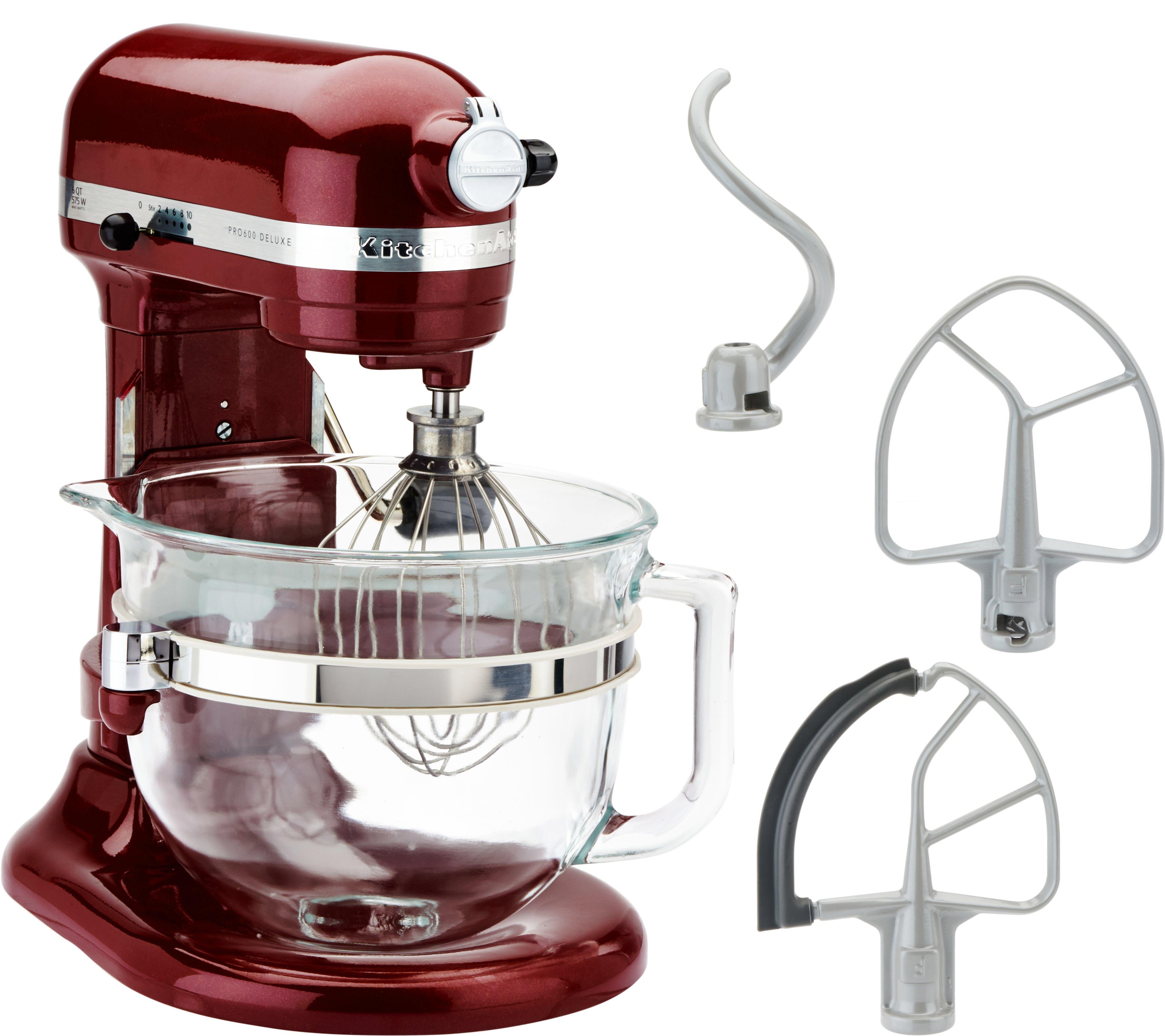 Kitchenaid 6qt 575 watt glass bowl lift stand mixer w