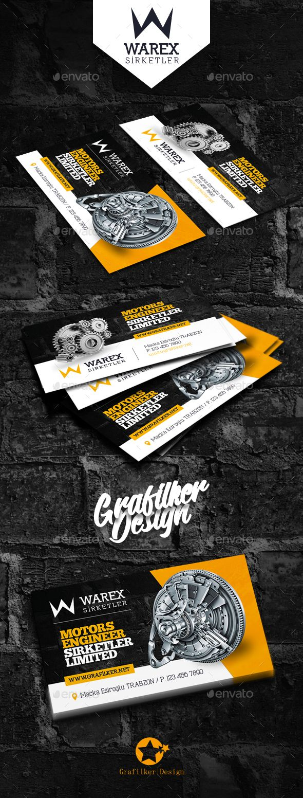 Technical Data Business Card Templates | Diseño corporativo ...