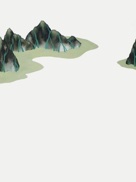 Glaciers (2011) Encre acrylique et gouache Simone Rochon