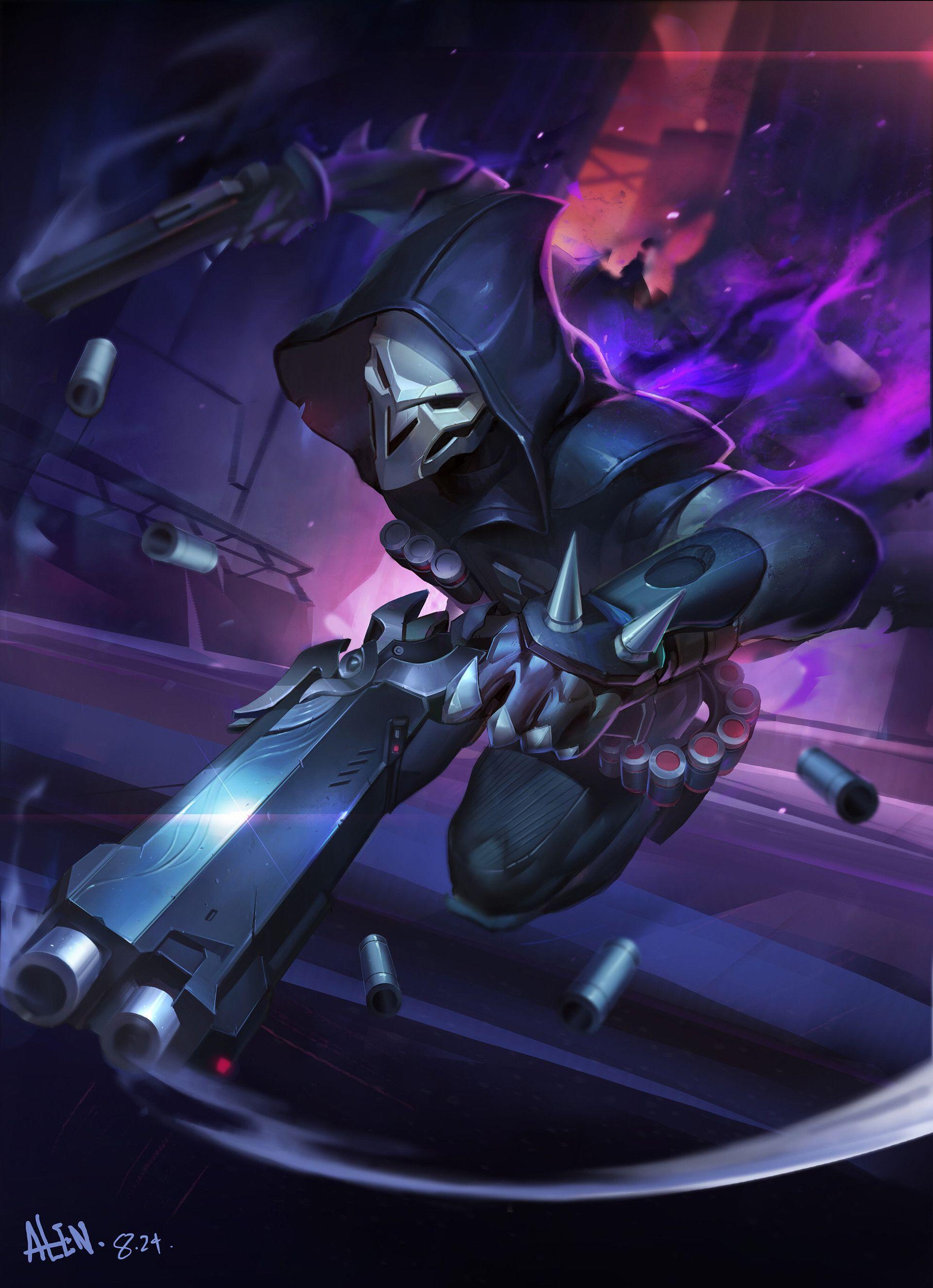 Artstation Reaper Li Yixin In 2020 Overwatch Reaper Overwatch Wallpapers Overwatch Fan Art
