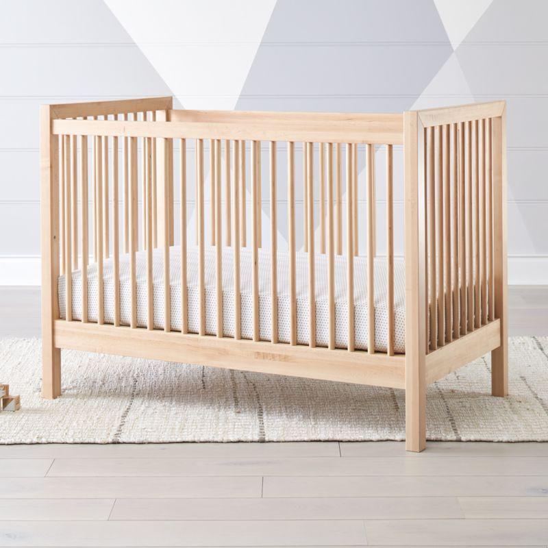 Andersen Ii Maple Crib Reviews Crate And Barrel Cribs Wood Crib Natural Crib