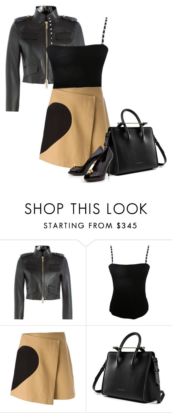 """""""Untitled #6352"""" by lisa-holt ❤ liked on Polyvore featuring Dsquared2, Jean Muir, MSGM and Alexander McQueen"""