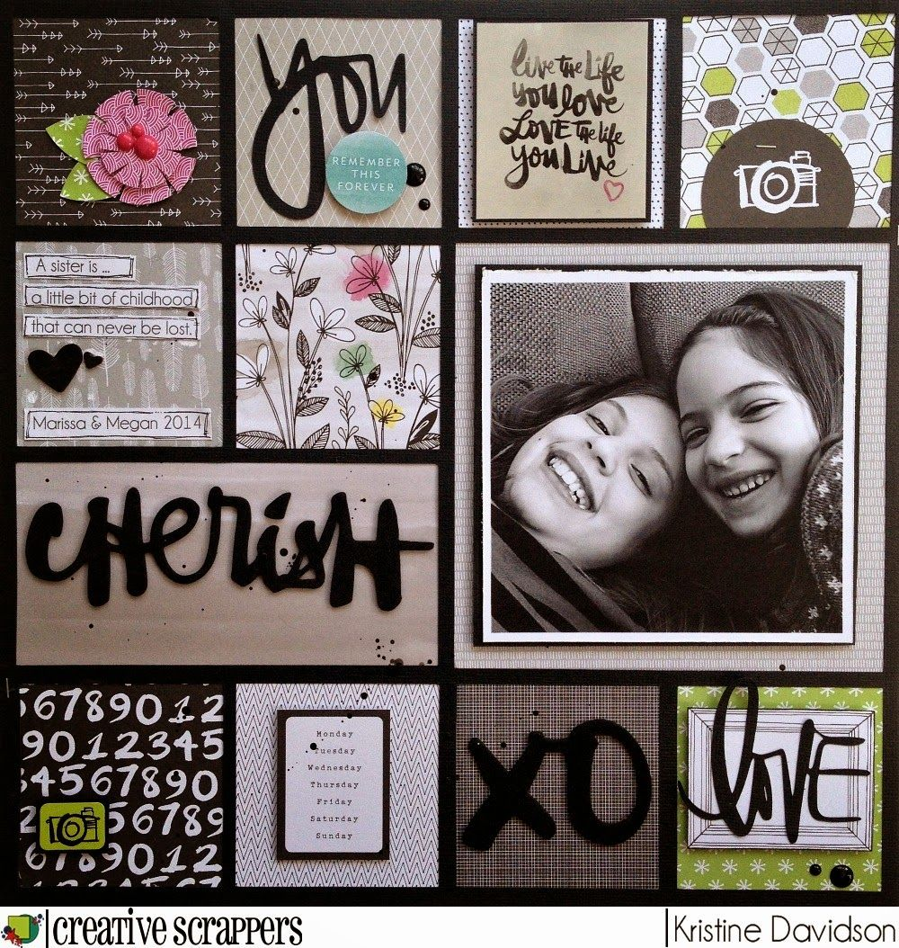 Kristine Davidson: Cherish - CS Sketch 269 | Creative Scrappers ...