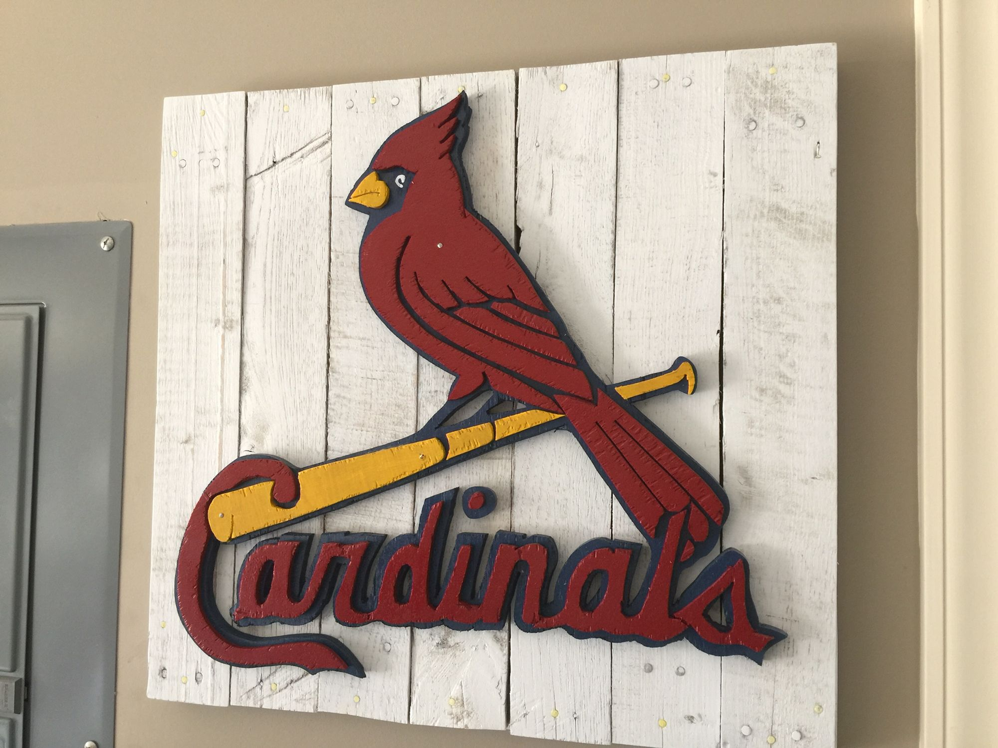 St Louis Cardinals Fan Art Reclaimed Wood Pallets St Louis Cardinals Decor Cardinal Decor Stl Cardinals Baseball
