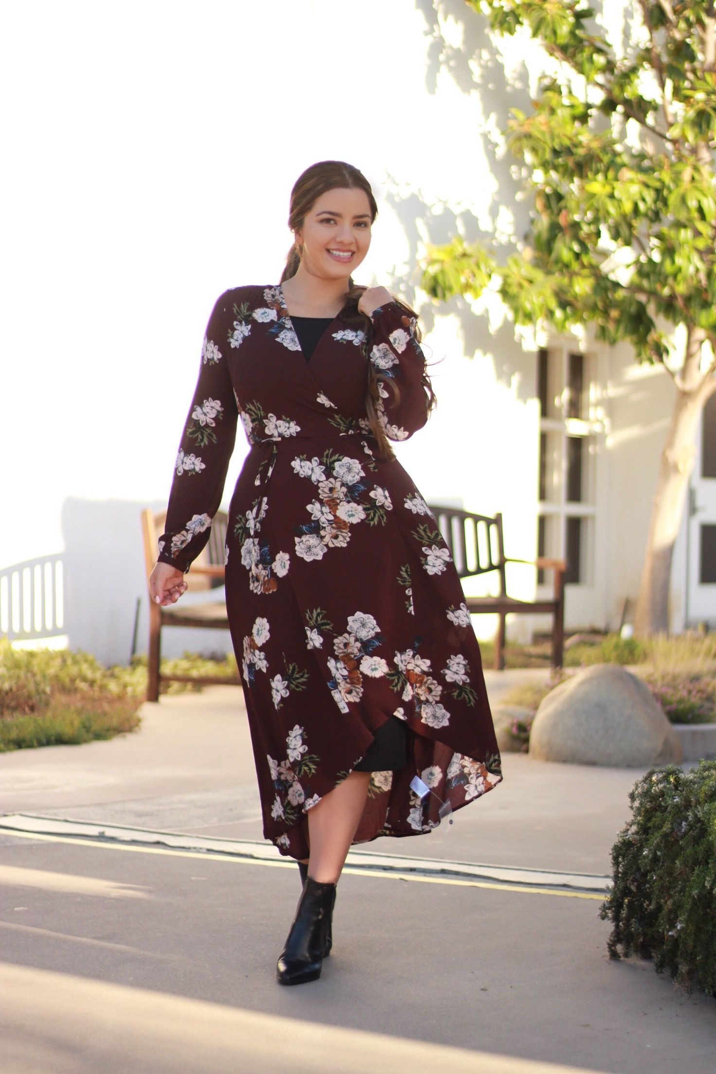 e327535bd7eb Our Jaclyn wrap dress is a fall must have. Available now ...
