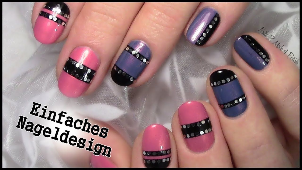 Nageldesign Einfach Fur Anfanger Easy Nailart For Beginners