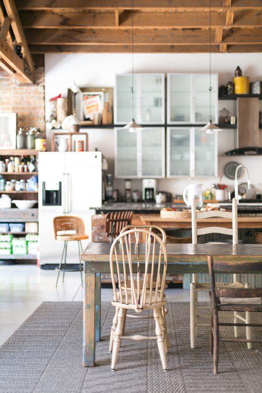Johanna & Derek's Airy Livework Studio  House Tours Apartment Inspiration Rolling Kitchen Chairs Decorating Design