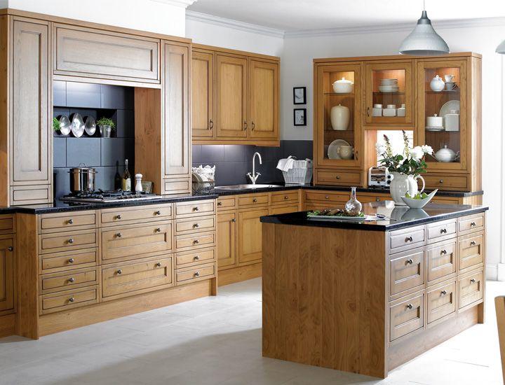oak kitchen ideas - Google Search