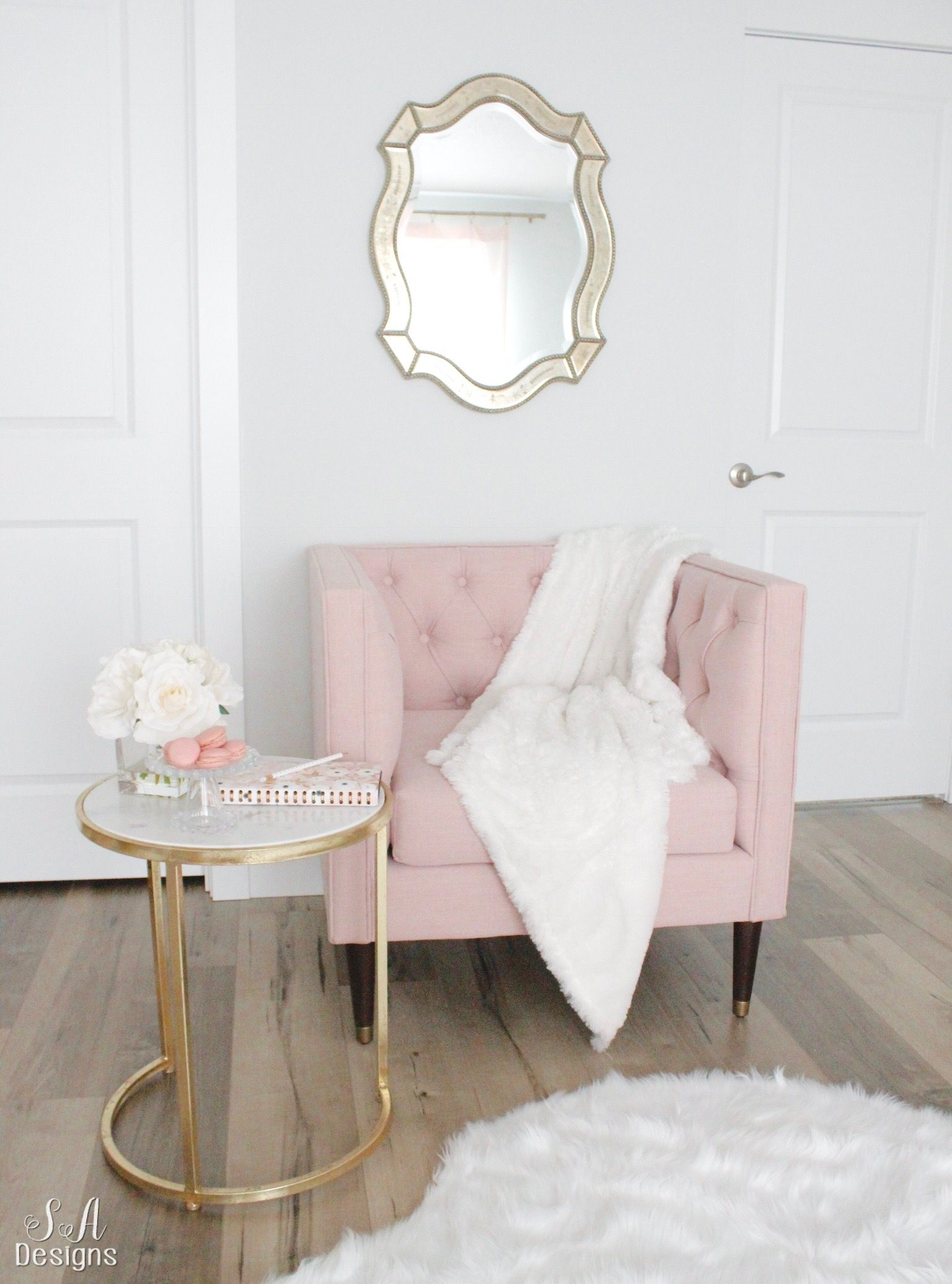 Blush And Gold Glam Office Reveal Home Decor Bedroom