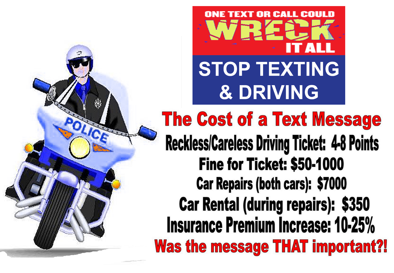 Driving Slogan Frosted Texts - Flakes Google And Texting Search Slogans