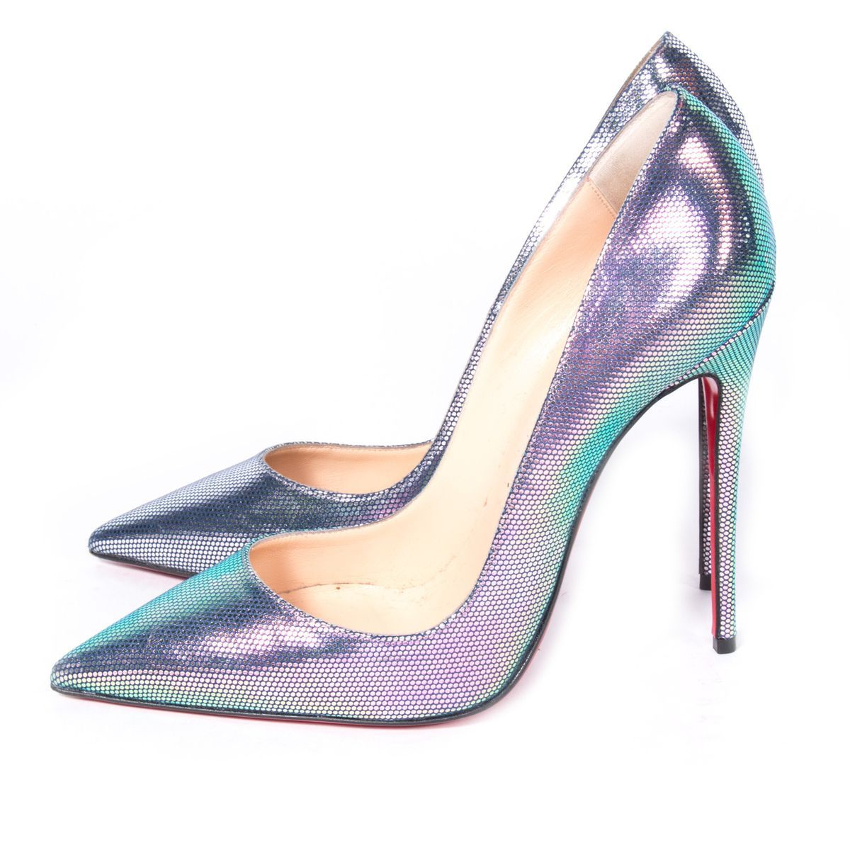 Christian Louboutin Beige Patent Leather So Kate Pumps
