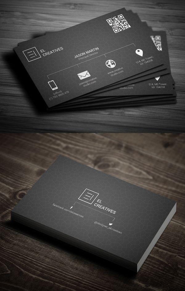 Metro Dark Business Card Businesscards