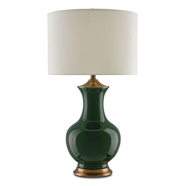 Currey And Company Lilou Table Lamp 6000 0022 Green Table Lamp Table Lamp Modern Lamp
