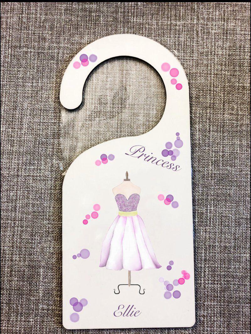 Door Name Door Plaque Princess Door Hanger Mdf Door